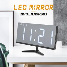 LUMINOVA Jam Meja LED Digital Mirror Clock with Temperature - DS3618L - White - 6