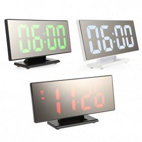 LUMINOVA Jam Meja LED Digital Mirror Clock with Temperature - DS3618L - White - 7