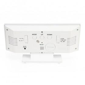 LUMINOVA Jam Meja LED Digital Mirror Clock with Temperature - DS3618L - White - 9