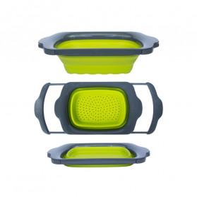 AsyPets Rak Bak Cuci Sayur Foldable Collapsible Drainer - JY748 - Green - 3