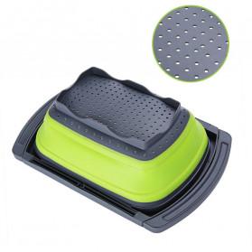 AsyPets Rak Bak Cuci Sayur Foldable Collapsible Drainer - JY748 - Green - 4