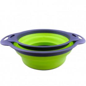 AsyPets Baskom Saringan Lipat Drain Basket Foldable Collapsible Size S - DP0154 - Green