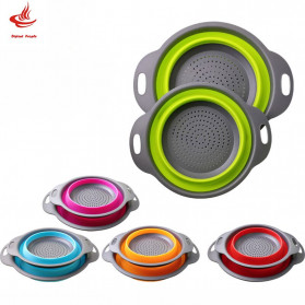AsyPets Baskom Saringan Lipat Drain Basket Foldable Collapsible Size S - DP0154 - Green - 2