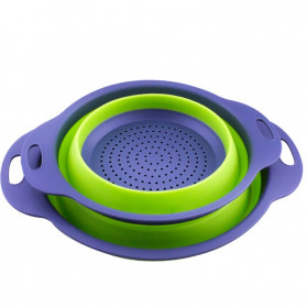 AsyPets Baskom Saringan Lipat Drain Basket Foldable Collapsible Size L - DP0154 - Green - 4