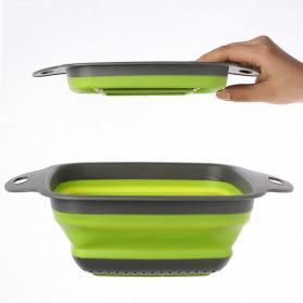 Rayfox Keranjang Saringan Lipat Drain Basket Foldable Collapsible Size S - DP0155 - Green - 10