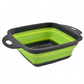 Rayfox Keranjang Saringan Lipat Drain Basket Foldable Collapsible Size S - DP0155 - Green - 4