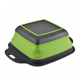 Rayfox Keranjang Saringan Lipat Drain Basket Foldable Collapsible Size S - DP0155 - Green - 5