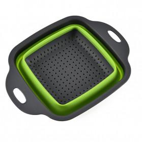 Rayfox Keranjang Saringan Lipat Drain Basket Foldable Collapsible Size S - DP0155 - Green - 6