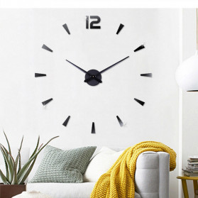 Jam Dinding DIY Giant Wall Clock Quartz Creative Design - DIY-114 - Black