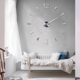 Jam Dinding DIY Giant Wall Clock Quartz Creative Design - DIY-114 - Black - 5