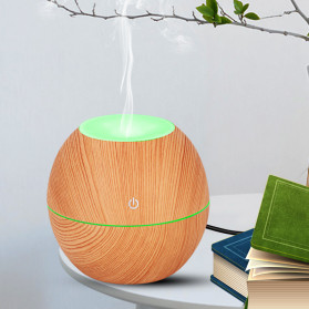 Taffware Ultrasonic Humidifier Aroma Essential Oil Diffuser Wood Design 130ml - NM007 - Wooden