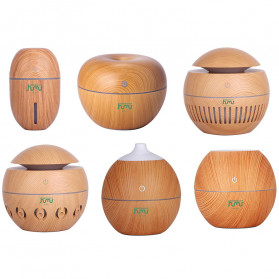 Taffware Air Humidifier Ultrasonic Aromatherapy Oil Diffuser Wood Design 130ml - NM007 - Wooden - 2
