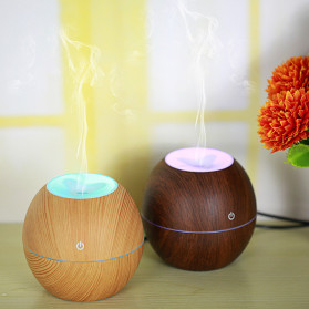 Taffware Ultrasonic Humidifier Aroma Essential Oil Diffuser Wood Design 130ml - NM007 - Wooden - 3
