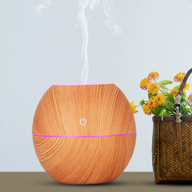 Taffware Air Humidifier Ultrasonic Aromatherapy Oil Diffuser Wood Design 130ml - NM007 - Wooden - 4