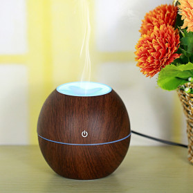 Taffware Air Humidifier Ultrasonic Aromatherapy Oil Diffuser Wood Design 130ml - NM007 - Wooden - 5