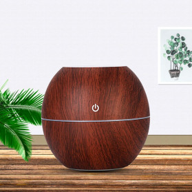 Taffware Ultrasonic Humidifier Aroma Essential Oil Diffuser Wood Design 130ml - NM007 - Wooden - 6