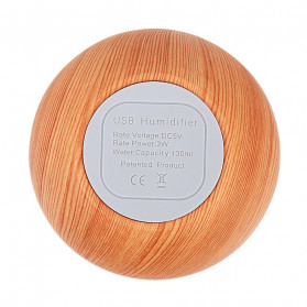 Taffware Air Humidifier Ultrasonic Aromatherapy Oil Diffuser Wood Design 130ml - NM007 - Wooden - 9