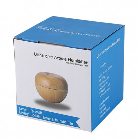 Taffware Ultrasonic Humidifier Aroma Essential Oil Diffuser Wood Design 130ml - HUMI AUG17 - Wooden - 10