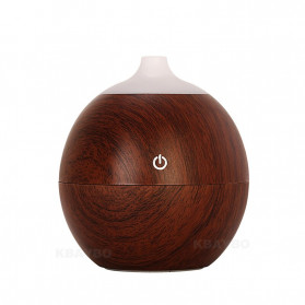 Taffware Ultrasonic Humidifier Aroma Essential Oil Diffuser 130ml - K-H120B - Dark Brown