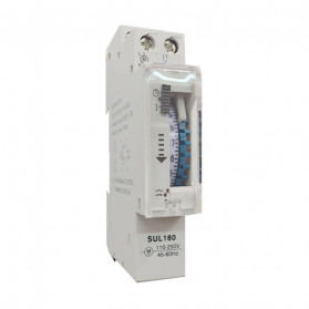 DIN Rail Saklar MCB Mechanical Timer Switch Programmable 16A - SUL180 - White