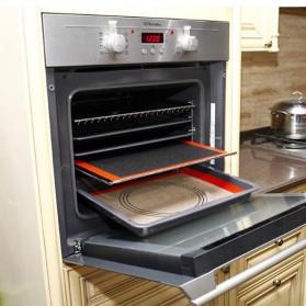 GTLCONIE Alas Masak Silicone Non-stick Oven Baking Tray Mat - A004 - Black/Brown - 5