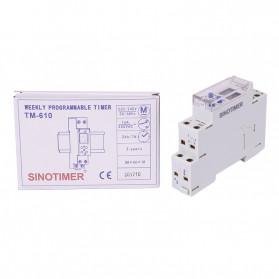 Sinotimer DIN Rail Power Timer Programmable Time Switch Relay 18mm 220V - TM610-2 - White - 3