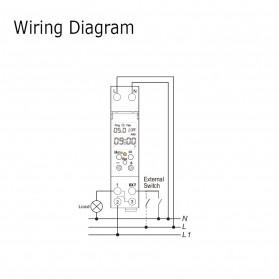 Sinotimer DIN Rail Power Timer Programmable Time Switch Relay 18mm 220V - TM610-2 - White - 5