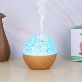 Taffware Air Humidifier Ultrasonic Aromatherapy Oil Diffuser RGB Light 130ml - J-008 - Wooden