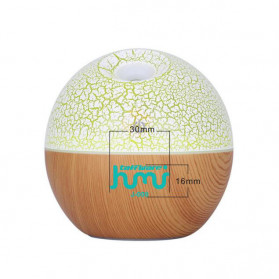 Taffware Air Humidifier Ultrasonic Aromatherapy Oil Diffuser RGB Light 130ml - J-008 - Wooden - 2