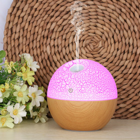 Taffware Air Humidifier Ultrasonic Aromatherapy Oil Diffuser RGB Light 130ml - J-008 - Wooden - 6