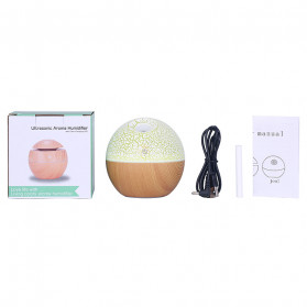 Taffware Air Humidifier Ultrasonic Aromatherapy Oil Diffuser RGB Light 130ml - J-008 - Wooden - 9