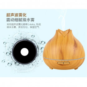 XProject Ultrasonic Humidifier Aroma Essential Oil Diffuser Wood Design 400ml - J-009 - Wooden - 4
