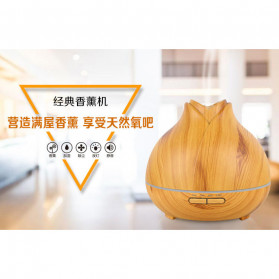 XProject Ultrasonic Humidifier Aroma Essential Oil Diffuser Wood Design 400ml - J-009 - Wooden - 5