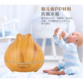 XProject Ultrasonic Humidifier Aroma Essential Oil Diffuser Wood Design 400ml - J-009 - Wooden - 8