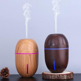 Taffware Air Humidifier Ultrasonic Aromatherapy Oil Diffuser Wood Design 300ml - J-010 - Dark Brown - 3
