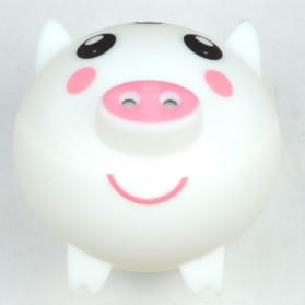 XProject Ultrasonic Humidifier Aroma Essential Oil Diffuser Cute Pig Design 300ml - KEP-01 - White - 2