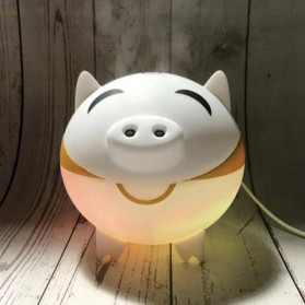XProject Ultrasonic Humidifier Aroma Essential Oil Diffuser Cute Pig Design 300ml - KEP-01 - White - 4