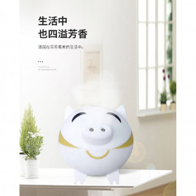 XProject Ultrasonic Humidifier Aroma Essential Oil Diffuser Cute Pig Design 300ml - KEP-01 - White - 5