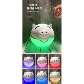 XProject Ultrasonic Humidifier Aroma Essential Oil Diffuser Cute Pig Design 300ml - KEP-01 - White - 7