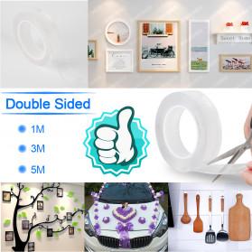 SzGlue Double Tape Perekat Transparent No Trace Washable Sticker (3 x 0.1 cm) 1 Meter - J007 - Transparent - 3