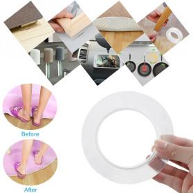 SzGlue Double Tape Perekat Transparent No Trace Washable Sticker (3 x 0.1 cm) 1 Meter - J007 - Transparent - 4