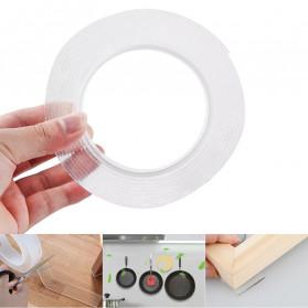 SzGlue Double Tape Perekat Transparent No Trace Washable Sticker (3 x 0.1 cm) 1 Meter - J007 - Transparent - 5