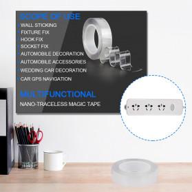 SzGlue Double Tape Perekat Transparent No Trace Washable Sticker (3 x 0.1 cm) 1 Meter - J007 - Transparent - 6
