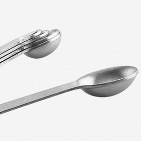 Houseen Sendok Takar Teh Cup Stainless Steel Measuring Spoon 5 PCS - S301 - Silver - 4