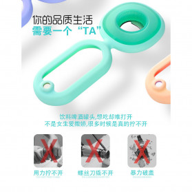 Coolz Pembuka Tutup Botol Toples Multifungsi 4 in 1 Silicone Flexible Bottle Opener - CO32 - Green