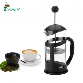 TOPINCN Cafilas French Press Coffee Maker Pot 600ml - TOP1 - Black