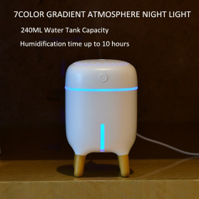 XProject Air Humidifier Aromatherapy Oil Diffuser Cute Design 240ml - H433 - White - 6