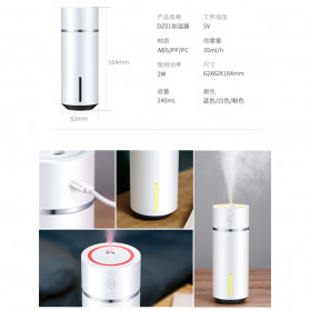 XProject Air Humidifier Essential Oil Diffuser 240ml - HMT-DZ01 - White - 9