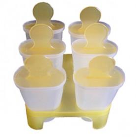 ENHOR Cetakan Es Krim Frozen Ice Cream Molds 6 Slot - XH1004B - Mix Color - 5