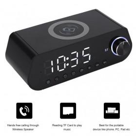 LEADSTAR Jam Meja LED Digital Clock Bluetooth Speaker - MX23 - Black